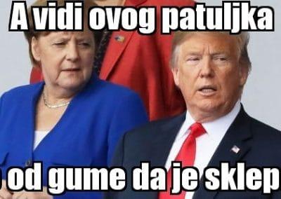 Merkel mjerka Trumpa