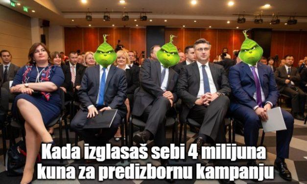 HDZ uzeo 4 milijuna kuna