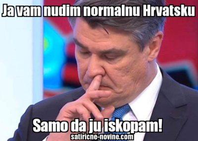 Milanović kopa