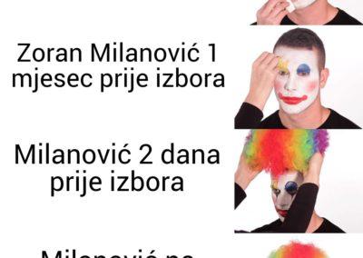 Milanović nanosi šminku