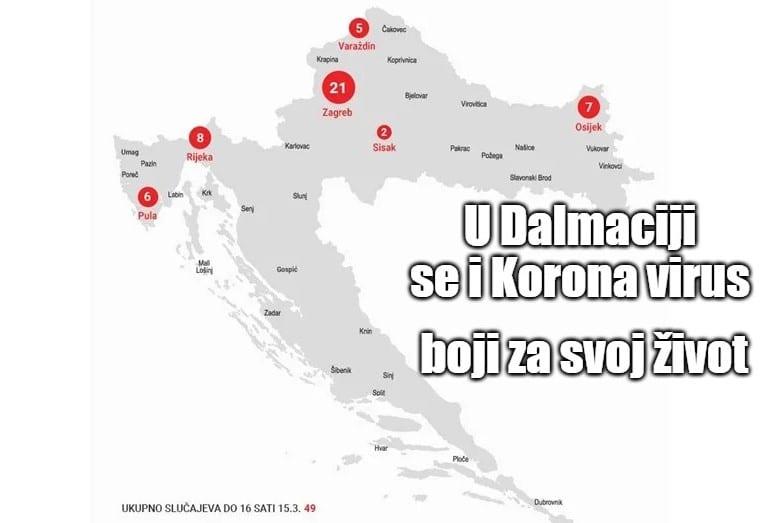 Korona virus se boji Splita i Dalmacije