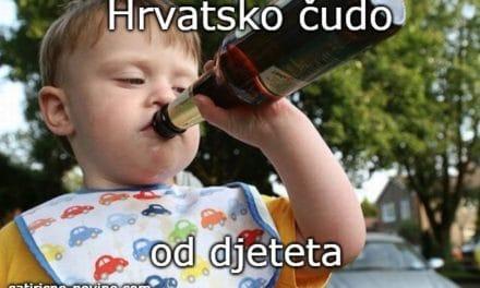 Hrvatsko čudo od djeteta – vozi pijan sa 8 godina