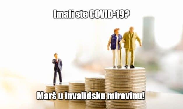 Država oboljele od COVID-a 19 šalje u invalidsku mirovinu